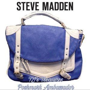 ⭐️STEVE MADDEN⭐️Lg. Blue & Silver Messenger Bag